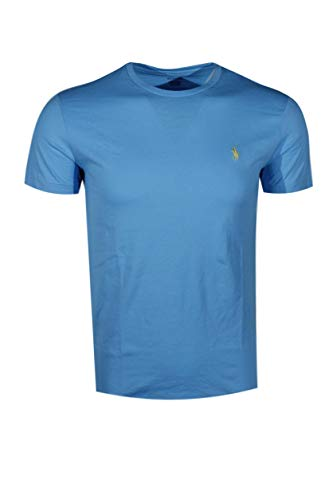 Polo Ralph Lauren Mens Crew-Neck T-Shirt (Large, Margie Blue (Yellow Pony))