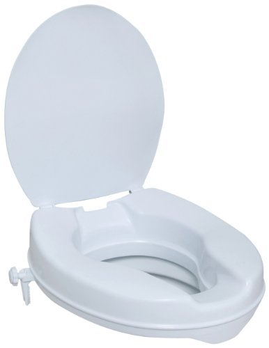 NRS Healthcare M11120 Stanton Raised Toilet Seat with Lid - 5 cm (2) Height by NRS Healthcare
