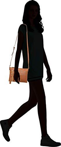 B BRENTANO Vegan Multi-Zipper Crossbody Handbag Purse with Tassel Accents (Black 1) by B BRENTANO (Image #6)