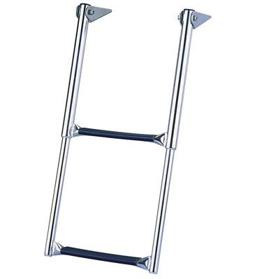 Garelick 19617-61:01 Over-Platform Telescoping Drop Ladder - 4-Step
