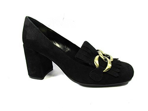 Mujer Zone de de para Negro Zapatos Vestir Cuero BP Px06qwO6