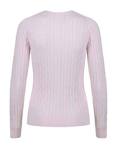Mujer Para Pink Gant Cárdigan Barley nYEqq8w5B