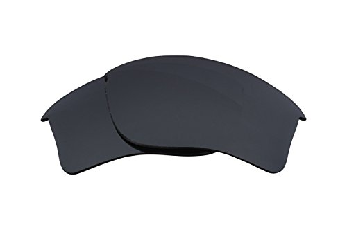 Best SEEK Replacement Lenses Oakley FLAK JACKET XLJ - Polarized Black Iridium (Oakley Lenses Flak)