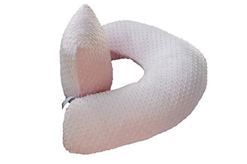 The 4 in 1 One Z PINK Nursing Pillow w/ AMAZING BACK SUPPORT- PINK COLOR COVER