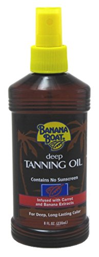 Banana Boat Deep Tanning Oil Spray 8 Ounce No Sunscreen