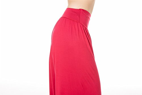 SIMYJOY Spandex Yoga Fit Leggings Modal Loose Pantaloni o Red donna Pilates Lunghi Purple da e morbido per U0xqrwgU