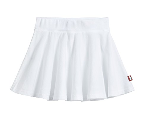City Threads Little Girls' Cotton Twirly Skirt Perfect for Sensitive Skin/SPD/Sensory Friendly for School Or Play Fall/Spring, White, Size 5
