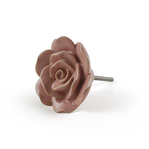 Artisanal Creations AC011 large Rose Knob Set of 4 Floral...