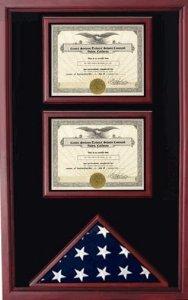 Amazon.com: Bandera Americana y 2 fundas de certificados ...