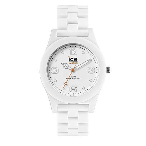 ساعت یخ زنانه یخی باریک و مات سفید 016245