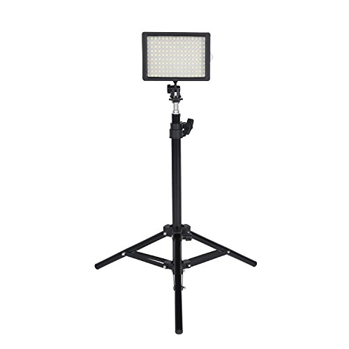 126PCS LED Dimmable Ultra High Power Panel Digital Camera/Camcorder Video Light with 32'' Tall Studio Light Stands LED Light for Canon, Nikon, Pentax, Panasonic, Sony, Samsung and Olympus Digital SLR by Cozyvie