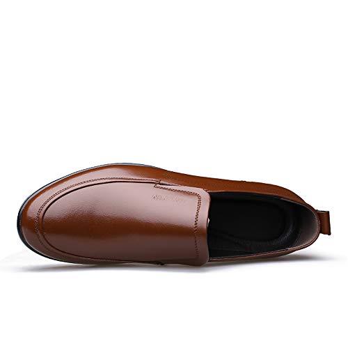 New Casual convenzionale uomo Pelle Marrone Jiuyue confortevoli Scarpe 2018 39 Scarpe formali da shoes Bianco EU Hollow cavo Casual opzionale Summer Color Dimensione Oxford Uomo Business xqz0Z