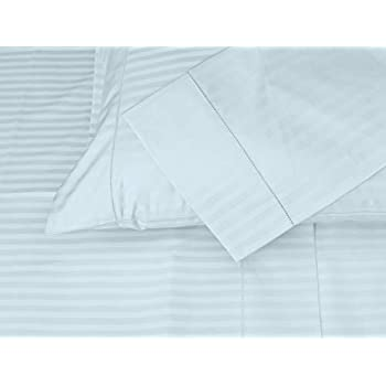 White Hem Stitch Luxury Smooth Sateen Threadmill Home Linen 600 Thread Count 100/% Cotton Pillow Cases 1cm Damask Stripe Set of 2 Cotton King Pillowcases