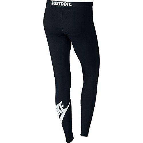 Nike Womens Leg-A-See Logo Leggings Black/White 806927-010 Size Large