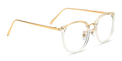 Tijn Vintage Optical Eyewear Non Prescription Eyeglasses Frame With Clear Lenses