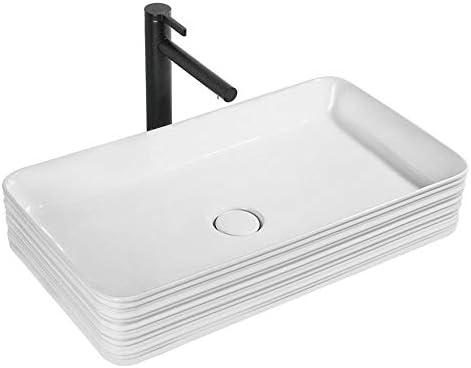 セラミック洗面器 現代コーナーカウンターアート洗面台のバスルームセラミック容器シンクのために洗面所の洗面化粧台のキャビネット現代のスタイル バスルームキャビネットシンク (色 : 白, Size : 66.8x38x12cm)
