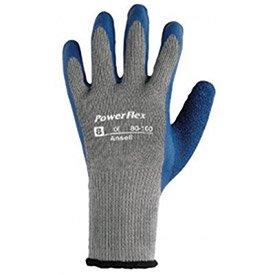 (Ansell Powerflex Gloves, 1-Pair - Lot of 12)