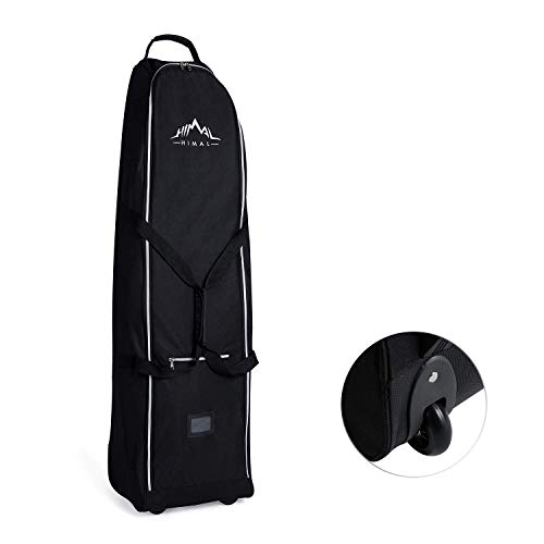 Himal Soft-Sided Golf Travel Bag - Heavy Duty 600D Polyester Oxford Wear-Resistant,Excellent Zipper Universal Size with Wheels (Renewed)