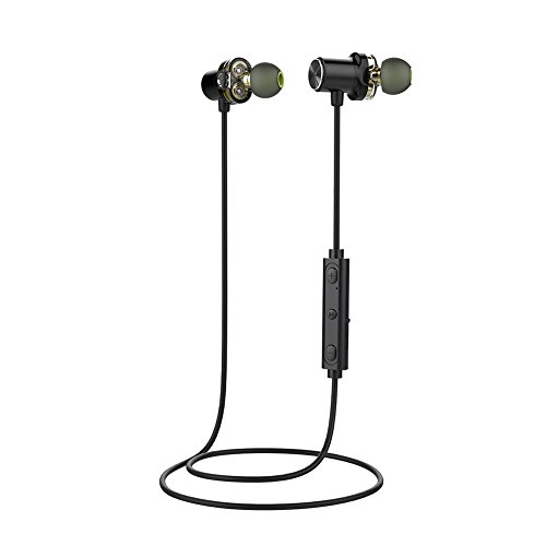 Alloet Dual Moving Coil Waterproof Bluetooth Sport In-Ear St