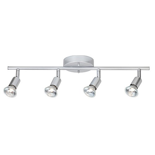 Globe Electric 4-Light Track Kit Light Bar, Brushed Silver Finish, GU10 Bulb Base Code, 58932 by Globe Electric (Image #4)