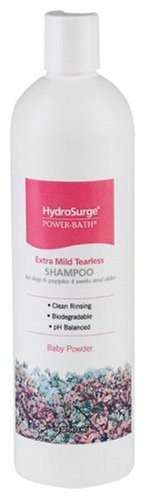 HydroSurge Shampoo for Pets and Horses, Tearless, Baby Powerder Scented, 16-ounces