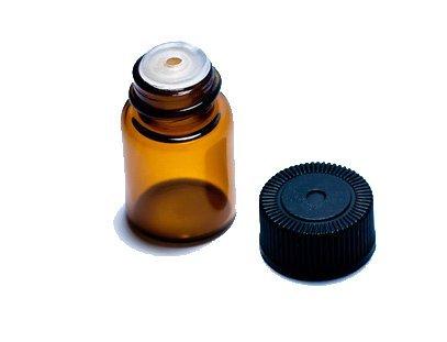 Got-Oils-58-2-ML-Amber-Sample-Vial-W-Orifice-Reducer-Black-Cap-Box-of-24