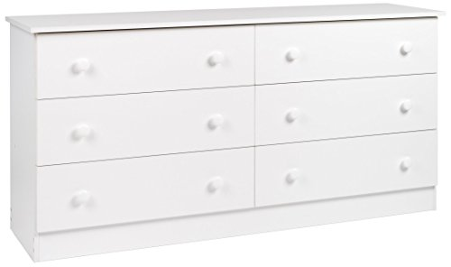 Prepac White 6-Drawer Dresser ()