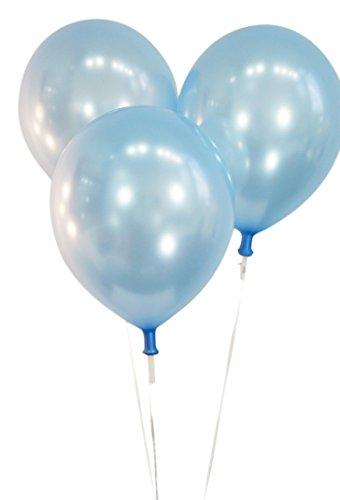 100 light blue balloons - 1