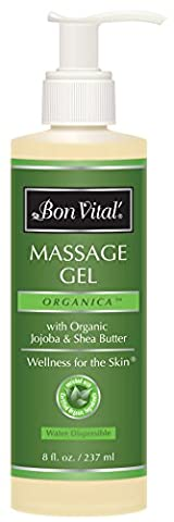 Bon Vital Organica Massage Gel Made with Certified Organic Ingredients for an Earth-Friendly & Relaxing Massage, 8 Ounce - Bon Vital Organica Lotion