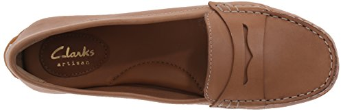 CLARKS Damen Doraville Nest Slip-On Loafer Tan Leder
