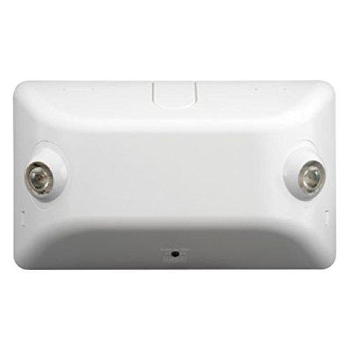 Dual-Lite EV2 LED Emergency Light, 2W Double Head 145 Lumens - White