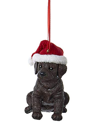 Country-Marketplaces-Labrador-with-Christmas-Hat-Ornament-Brown