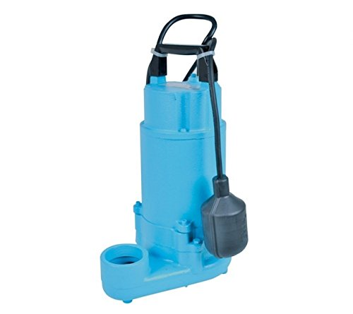 Little Giant 620239, WSV50HAM 1/2 hp 83 gpm Effluent Pump with Piggyback Mechanical Float Switch & 20 ft. Cord, 115V - 60Hz