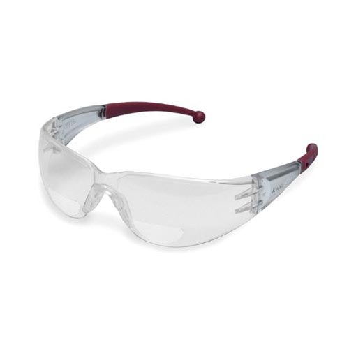 Elvex RX-400 Clear Polycarbonate BiFocal Safety Glasses with +3.0 Diopters.