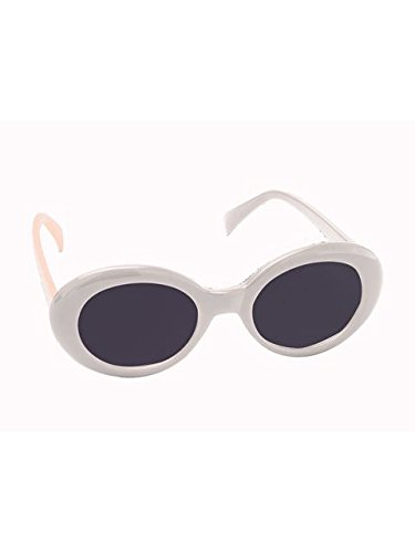 Kurt Cobain Costume (Forum Novelties Mod Sixties Tinted Glasses, White)