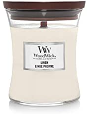 WoodWick eliptyczna świeca zapachowa z trzeszczącym knotem, len, czas palenia do 60 godzin