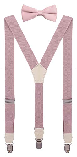 CEAJOO Child Bow Tie and Suspenders Set Adjustable Y Back 30