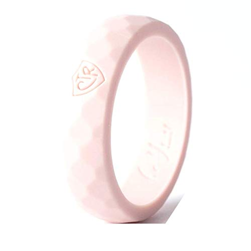 Be You Bands CTR Silicone Rings for Women (Blush, 7)