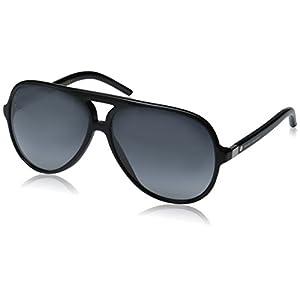 Marc Jacobs Marc70s Aviator Sunglasses, Black/Gray Gradient, 60 mm