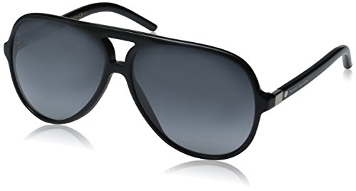 Marc Jacobs Marc70s Aviator Sunglasses, Black/Gray Gradient, 60 - Designer Men's Sunglasses