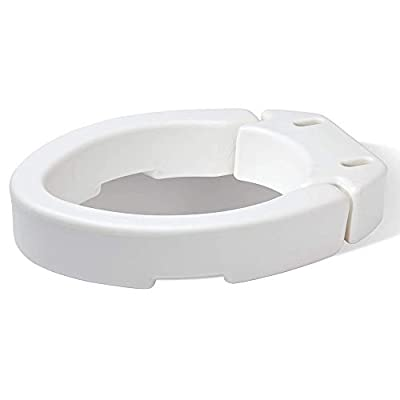 Carex Elongated Hinged Toilet Seat Riser, Adds 3.5 Inches of Height to Toilet, 300 Pound Weight Capacity, Hinged for Easy Cleaning