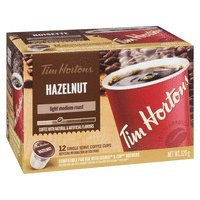 Tim Hortons Hazelnut Light Medium Roast Coffee, Keurig K-cup compatible pods, 120g, 12 pods {Imported from Canada}
