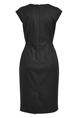 Kleid Damen Kurz Schwarz Flügelärmeln Mit Figurbetontes next 0Eqdwaa