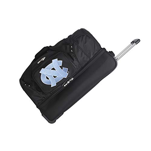 (NCAA North Carolina Tar Heels Rolling Drop-Bottom Duffel Bag, 27-inches)