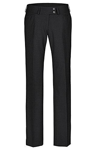 Greiff – pantalón de traje para mujer, calidad prémium, corte recto –Style 1352 negro