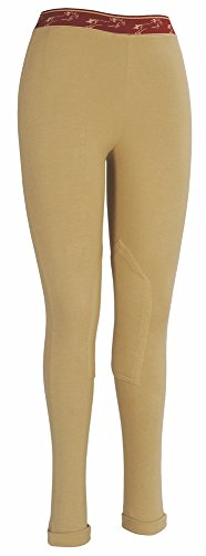TuffRider Kid's Cotton Schooler Jods, Light Tan, 14 (Tuffrider Shirt Cotton)