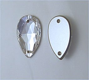 SWAROVSKI Sew On FlatBack PEAR Crystal CLEAR 18x10.5mm (Sew On Crystals Swarovski)