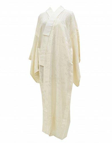 アクセスできない地下室本土(着物ひととき) 長襦袢 中古 リサイクル 女性 正絹 白 花文様 裄65.5cm ながじゅばん 白系 裄Mサイズ ll1820c