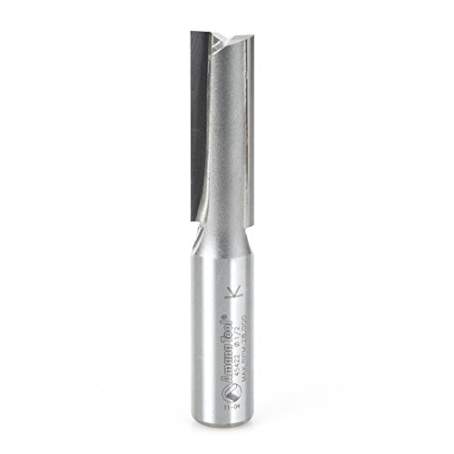 Carbide Tipped Router Bit (Amana Tool 45422 Straight Plunge 1/2-Inch Diameter by 1-1/2-Inch Cutting Height by 1/2-Inch Shank Carbide Tipped Router Bit)