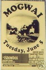 Mogwai Bardo Pond Original Seattle Concert Poster